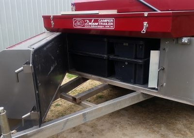 Storage space on an off road camper trailer from Deluxe Camper Trailers, Woodside