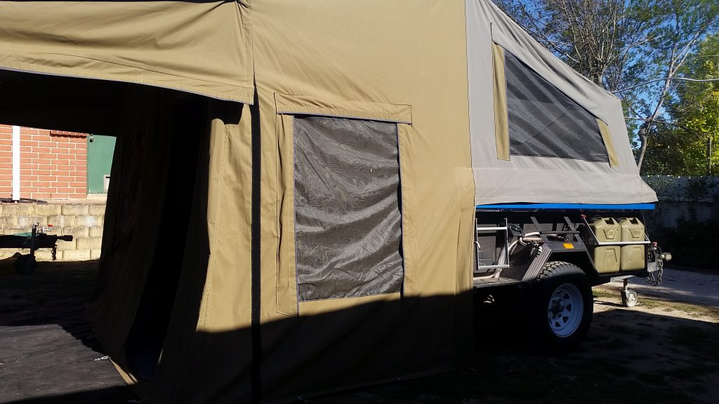 Side view of Safari Camper trailer