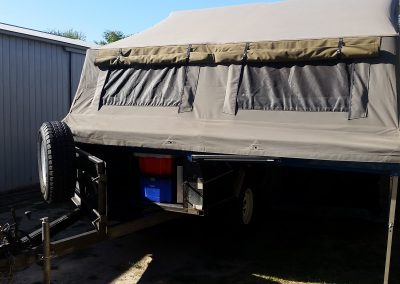 Front access on Safari camper